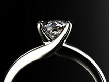 Anneau avec le diamant images stock