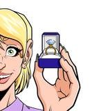 Anneau avec le diamant Image libre de droits