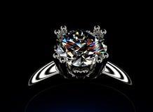 Anneau avec le diamant Fond de bijoux de mode Photographie stock