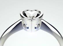 Anneau avec le diamant Fond de bijoux de mode Photo stock