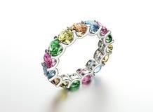 Anneau avec le diamant Fond de bijoux de mode Image stock