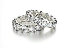 Anneau avec le diamant Fond de bijoux de mode Photos stock