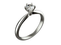 Anneau avec le diamant Fond noir de bijou de tissu d'or et d'argent Photo stock