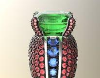 Anneau avec le diamant Fond noir de bijou de tissu d'or et d'argent Images libres de droits