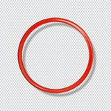 Anneau brillant rouge d'isolement sur le fond transparent illustration stock