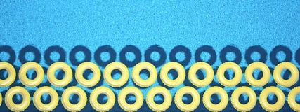 Anneau coloré de bain d'isolement dans la piscine rendu 3d Image libre de droits