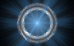Anneau cosmique avec des rayons Photos stock