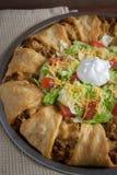 Anneau de croissant de Taco images stock