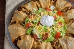 Anneau de croissant de Taco photographie stock libre de droits