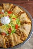 Anneau de croissant de Taco photo stock