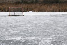 Anneau de hockey sur glace image libre de droits