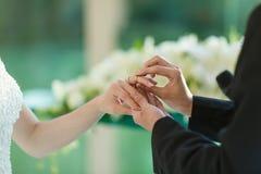 Anneau de mariage Photographie stock
