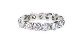 Anneau de mariage d'éternité d'anniversaire de diamant Image libre de droits
