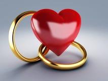 Anneau de mariage d'or illustration de vecteur