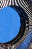 Anneau de moteur de turbine en métal photographie stock
