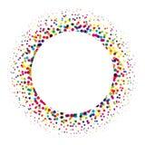 Anneau des points colorés dispersés autour Élément d'image tramée de conception moderne Illustration de vecteur Image stock