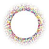 Anneau des points colorés dispersés autour Élément d'image tramée de conception moderne Illustration de vecteur Image libre de droits