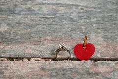 Anneau et amour Photographie stock