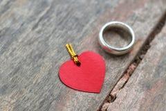 Anneau et amour Photos libres de droits