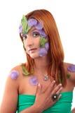 Anneau extrême de vintage de fille de maquillage Images stock
