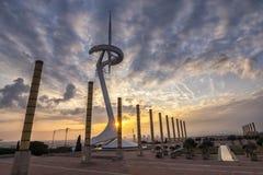 Anneau olympique de Montjuic image libre de droits