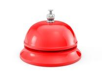 Anneau rouge de cloche de service Photos stock
