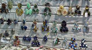 Anneau semi-précieux de pierres Images stock