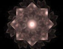 Anneaux colorés de fractale, illustration numérique illustration stock