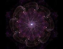 Anneaux colorés de fractale, illustration numérique Photos stock