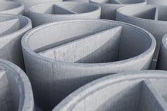 Anneaux concrets de trou d'homme d'axe - rendu 3D Image stock