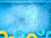 Anneaux de bain sur la piscine Images stock