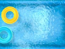 Anneaux de bain sur la piscine Photo stock