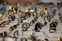 Anneaux de bijoux Photos libres de droits
