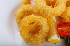 Anneaux de Calamari photos stock