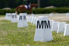 Anneaux de dressage de cheval Photos libres de droits