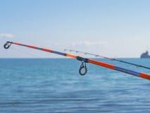 Anneaux de graphite sur cannes à pêche en gros plan Photographie stock libre de droits