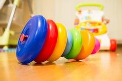 Anneaux de jouet Images libres de droits