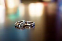 Anneaux de mariage Images libres de droits