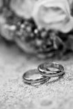 Anneaux de mariage Images stock