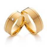 Anneaux de mariage (comprenant coupure-chemin) photographie stock libre de droits