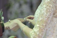 Anneaux de mariage d'échange Image libre de droits