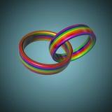 Anneaux de mariage de LGBT Image libre de droits
