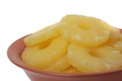 Anneaux en boîte d'ananas Image stock