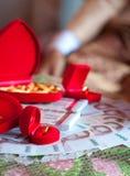 Anneaux et argent dans le mariage thaïlandais Photo stock