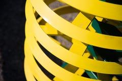Anneaux jaunes Image stock
