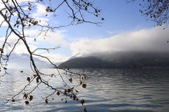 Annec lake on morning, france Royalty Free Stock Photo
