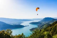 Annecy湖的看法 免版税库存图片