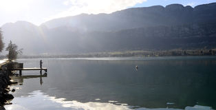 Annecy湖风景在法国 免版税库存图片
