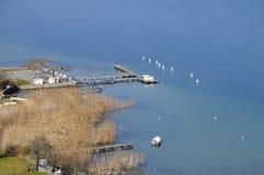 Annecy湖,开胃菜,法国 免版税库存照片