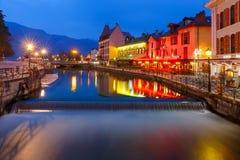 Annecy, αποκαλούμενο Βενετία των Άλπεων, Γαλλία Στοκ φωτογραφία με δικαίωμα ελεύθερης χρήσης